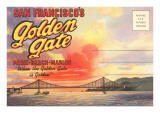 Postcard Folder, San Francisco's Golden Gate Prints