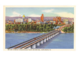 Bridge over Susquehanna, Harrisburg, Pennsylvania Poster