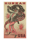 Hurrah for the USA, Prancing Uncle Sam Prints