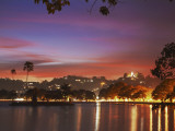 Sunset over Kandy Lake, Kandy, Sri Lanka Photographic Print by Ian Trower