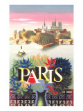 Paris Travel Poster Posters