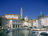 Town View and Harbour, Piran, Primorska Region, Slovenia Photographic Print by Steve Vidler