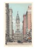 Broad Street, City Hall, Philadelphia, Pennsylvania Poster