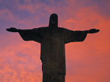 Christ the Redeemer Statue at Sunset, Rio De Janeiro, Brazil Photographic Print by Gavin Hellier