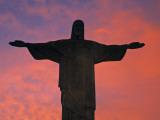 Christ the Redeemer Statue at Sunset, Rio De Janeiro, Brazil Photographic Print by Gavin Hellier