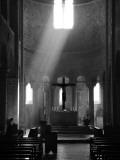 Prayer in Sant' Antimo Abbey Near Montalcino, Valle De Orcia, Tuscany, Italy Papier Photo par Nadia Isakova