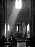 Prayer in Sant' Antimo Abbey Near Montalcino, Valle De Orcia, Tuscany, Italy Photographic Print by Nadia Isakova