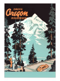 Drive Oregon Highways Poster