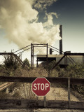 USA, Louisiana, Cajun Country, St. Martinville, Sugar Cane Mill and Country Road Photographic Print by Walter Bibikow