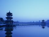 Taiwan, Kaohsiung, Lotus Lake, Spring and Autumn Pavilions Photographic Print by Steve Vidler