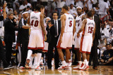 Dallas Mavericks v Miami Heat - Game One, Miami, FL - MAY 31: Erik Spoelstra Photographic Print by Garrett Ellwood