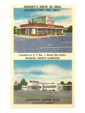 Johnny's Drive-In, Roadside Retro Posters