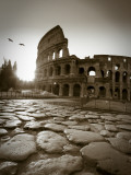 Colosseum and Via Sacra, Rome, Italy Reproduction photographique par Michele Falzone