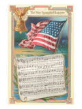 Sheet Music for the Star-Spangled Banner Poster