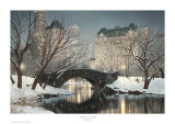 Twilight In Central Park Posters by Rod Chase