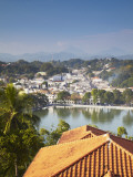View over Kandy Lake and City Centre, Kandy, Sri Lanka Photographic Print by Ian Trower