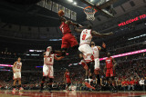 Miami Heat v Chicago Bulls - Game Five, Chicago, IL - MAY 26: Chris Bosh and Luol Deng Photographic Print by Jonathan Daniel