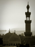 Egypt, Cairo, Islamic Quarter, Silhouette of Minarets and Mosques Photographic Print by Michele Falzone