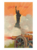 Liberty for All, Statue of Liberty, Cannon Poster