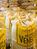 Colombia, Caldas, Manizales, Hacienda Venecia, Coffee in Sisal Bags Ready for Export Photographic Print by Jane Sweeney