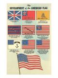 Development of the American Flag Kunstdrucke