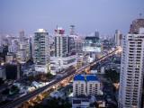 Thailand, Bangkok, Silom Area Skyline Photographic Print by Steve Vidler