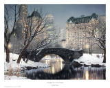 Twilight In Central Park Poster by Rod Chase