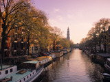 Westerkerk, Prinsengracht Canal, Amsterdam, Holland Photographic Print by Jon Arnold