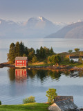 Small Island in Hardangerfjorden Nr Bergen, Western Fjords, Norway Photographic Print by Peter Adams