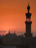 Egypt, Cairo, Islamic Quarter, Silhouette of Minarets and Mosques Fotografie-Druck von Michele Falzone