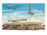 Hall's Drive-In, Roadside Retro Posters