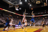 Dallas Mavericks v Miami Heat - Game One, Miami, FL - MAY 31: Jose Juan Barea and Udonis Haslem Lmina fotogrfica por Ronald Martinez