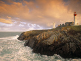 Lighthouse, Pointe De St-Mathieu, Brittany, France Photographic Print by Walter Bibikow