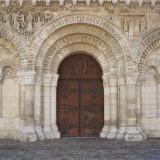 Portal of the Cathedral Notre-Dame La Grande, Poitiers, Poitou-Charantes, France Fotografie-Druck von Ivan Vdovin