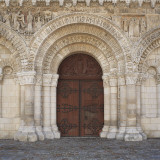 Portal of the Cathedral Notre-Dame La Grande, Poitiers, Poitou-Charantes, France Photographic Print by Ivan Vdovin