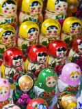 Lithuania, Vilnius, Russian Matryoshka Dolls in Souvenir Market Photographic Print by Gavin Hellier