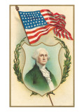 George Washington and Flag Prints