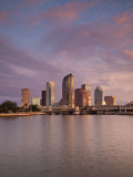 USA, Florida, Tampa, Skyline from Hillsborough Bay Photographic Print by Walter Bibikow
