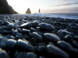 Reynisdrangar Rock Formations and Black Beach, Vik, Iceland Photographic Print by Peter Adams