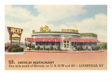 Hick's Drive-In, Roadside Retro Prints