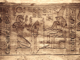 Egypt, Abu Simbel, Statues and Temple of Ramses Ii, Main Chamber, Reliefs Photographic Print by Michele Falzone