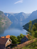 Otternes Mountain Village, Nr Flam, Aurlandsfjord, Norway Photographic Print by Peter Adams