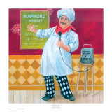 Karaoke Chef Prints by Gloria Eriksen