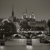 Notre Dame and Pont Des Arts, Paris, France Photographic Print by Jon Arnold