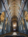 England, Wiltshire, Salisbury Cathedral, the Nave Roof Photographic Print by Steve Vidler