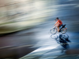 Red Rider Photographic Print by Felipe Rodriguez
