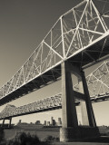 USA, Louisiana, New Orleans, the Greater New Orleans Bridge and Mississippi River Photographic Print by Walter Bibikow