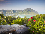View of Ao Ton Sai and Ao Lo Dalam Beaches, Ko Phi Phi Don, Thailand Photographic Print by Ian Trower