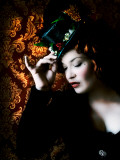 Victorian Amazon by Helena M. Damsel Fotoprint van Helena Marroqui