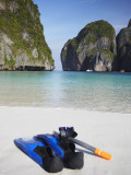 Snorkelling Equipment on Beach, Ao Maya, Ko Phi Phi Leh, Thailand Photographic Print by Ian Trower